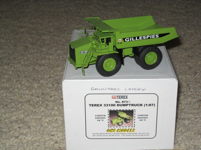 OHS Terex 33100 quarry truck Gillespies MIne 1/87