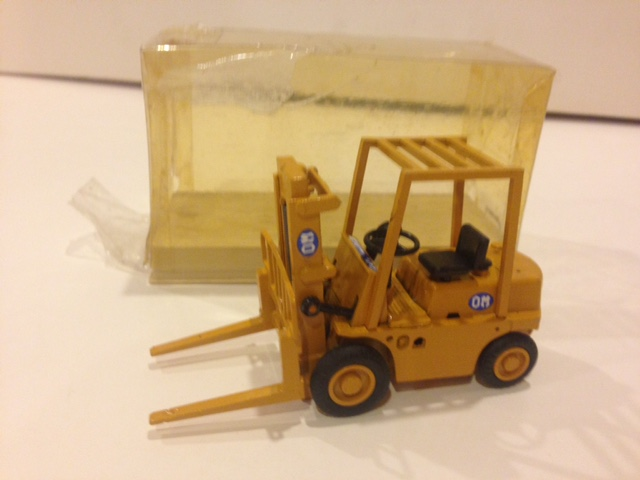 Old Car Fork lift yellow