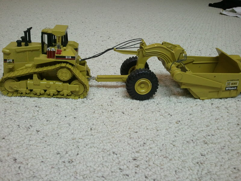 Cat D11R with 651 pull pan by Black Rat Models 2nd version